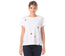 T-Shirt 'Nalin Hearts' rot / weiß