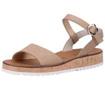 Sandale weiß / hellbeige / hellbraun