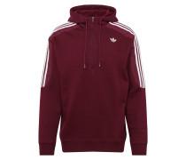 Sweatshirt burgunder / weiß