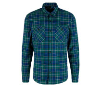 Twill-Hemd dunkelblau / dunkelgrün