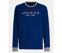 T-Shirt blau / grau / rot / weiß