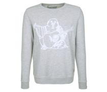 Sweatshirt 'Buddha' grau / weiß