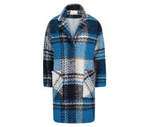 Mantel blau / grau