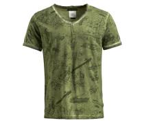 Shirt 'tendrik' grün / dunkelgrün