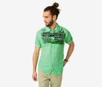 Sommerhemd limette / schwarz