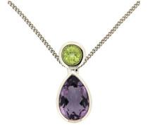 jewels Kettenanhänger grün / lila / silber