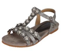 Sandale grau / silber