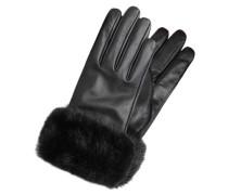 Leder Handschuhe schwarz
