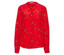 Bluse 'Christmas' rot / schwarz / weiß