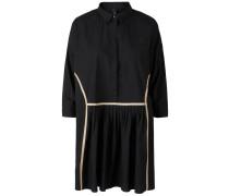 Hemd Minikleid dunkelbeige / schwarz