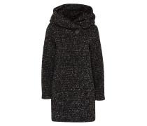 Mantel 'Vicama' schwarz / weiß