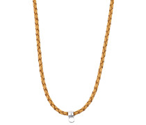 Charm-Halskette 'Leather Chain Esnl92070F750'