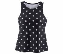 Bade-Shirt schwarz / weiß