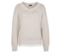 Pullover 'Ciselina' beige / weiß
