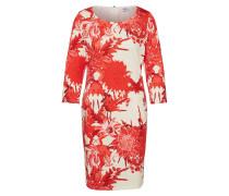 Kleid rot / naturweiß