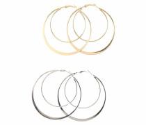 Creolen-Set gold / silber