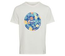 T-Shirt 'filler' blau / offwhite