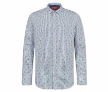 Streifenhemd 'phil' hellblau