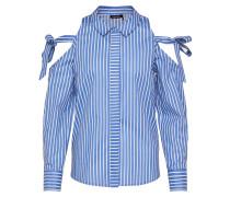 Casual Bluse Schulterfrei blau