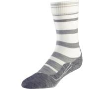 Wandersocken 'TK 5 Stripe' grau / offwhite