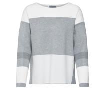 Pullover 'Lou' grau / weiß
