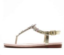 Sandale gold / hellpink / silber