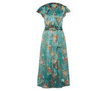 Kleid smaragd / mischfarben