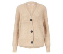 Strickjacke 'boxy Jacket Buttons' sand