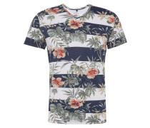 Shirt 'malibu' navy / grasgrün / weiß