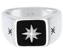 Ring silber / schwarz