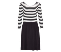 Kleid 'nia' schwarz / weiß