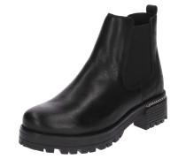 Chelsea-Boots mit Kettendetail schwarz