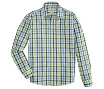 Trachtenhemd im Karodesign grün