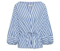 Bluse 'bal' blau / weiß