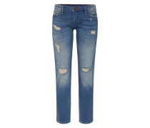 'liv Selvage' Destroyed Jeans blue denim