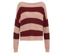 Oversize Pullover puder / burgunder