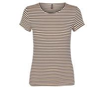 T-Shirt 'Riluka 1' beige / schwarz