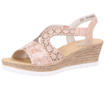 Sandalen rosa / silber
