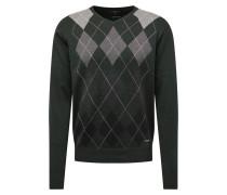 Pullover 'Argyle' grau / dunkelgrün
