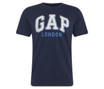 Shirt 'SS SP 18 London City Tee' navy / weiß