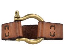 'Bracciali' Armband Leder 22 cm cognac