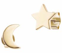 Ohrstecker 'Moon & Stars C7356E/90/00' gold
