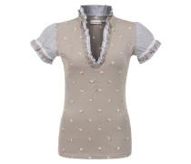 Shirt 'Pana' hellbraun / grau / weiß