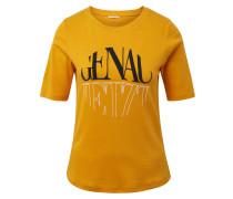 T-Shirt 'Nena & Larissa' blau / gelb