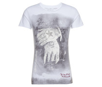 Shirt 'MT Alive round' grau / weiß