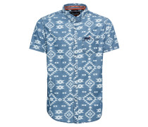 Hemd 'Miami' rauchblau / weiß