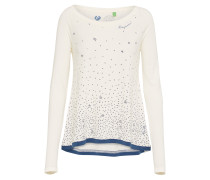 Shirt 'tilda Organic' blau / offwhite