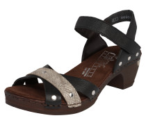 Clogs in Reptil-Optik schwarz