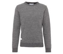 Pullover 'threedee' grau / weiß