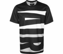 T-Shirt 'Wings' weiß / schwarz